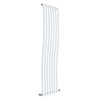 Hudson Reed Revive Wave 1785 x 413mm Designer Radiator - Gloss White - HLW95 profile small image view 1