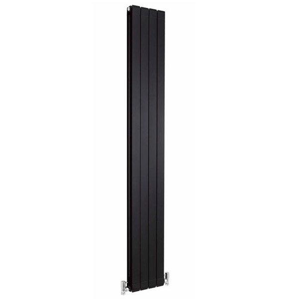 Premier - Myrtle High Gloss Black Designer Radiator - 1800 x 255mm - HMY001 Large Image
