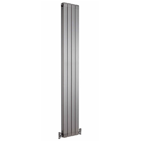 Premier - Myrtle High Gloss Silver Designer Radiator - 1800 x 255mm - HMY002 profile large image view 1