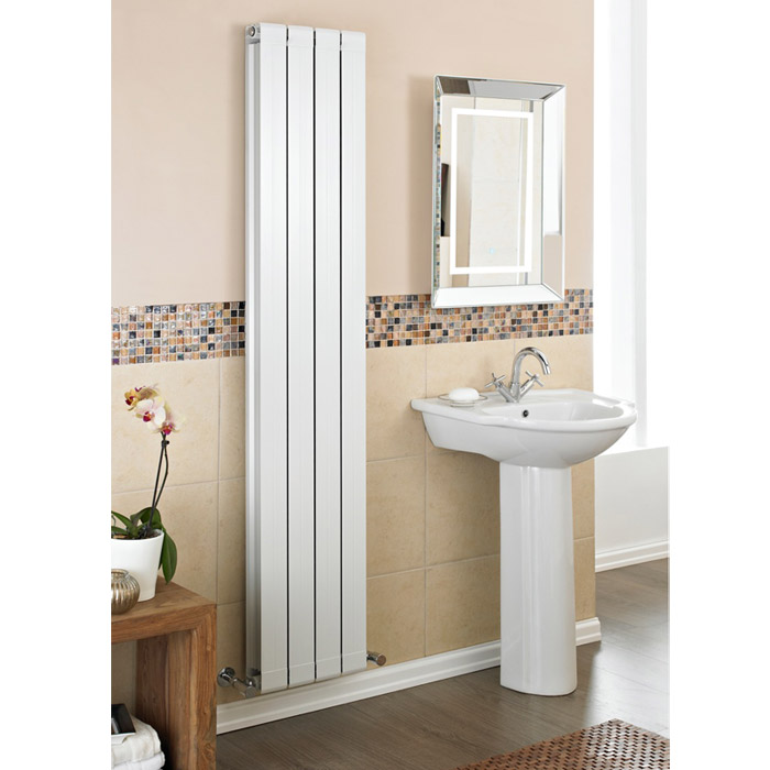 Premier - Myrtle White Designer Radiator - 1800 x 255mm - HMY003 profile large image view 2