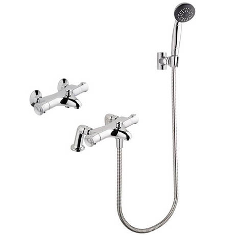 MX Options Thermostatic Deck/Wall Mounted Bath Mixer Tap with Kit - HN9