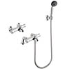 MX Options Thermostatic Deck/Wall Mounted Bath Mixer Tap with Kit - HN9 profile small image view 1