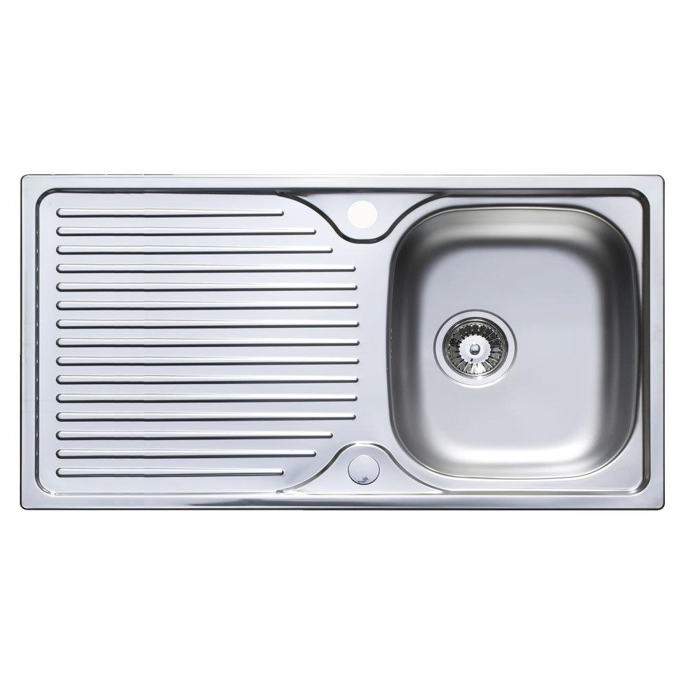 Astracast 965 x 500 horizon stainless steel 1 0 bowl kitchen sink with waste