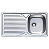 Astracast 965 x 500 Horizon Stainless Steel 1.0 Bowl Kitchen Sink (with Waste) profile small image view 1