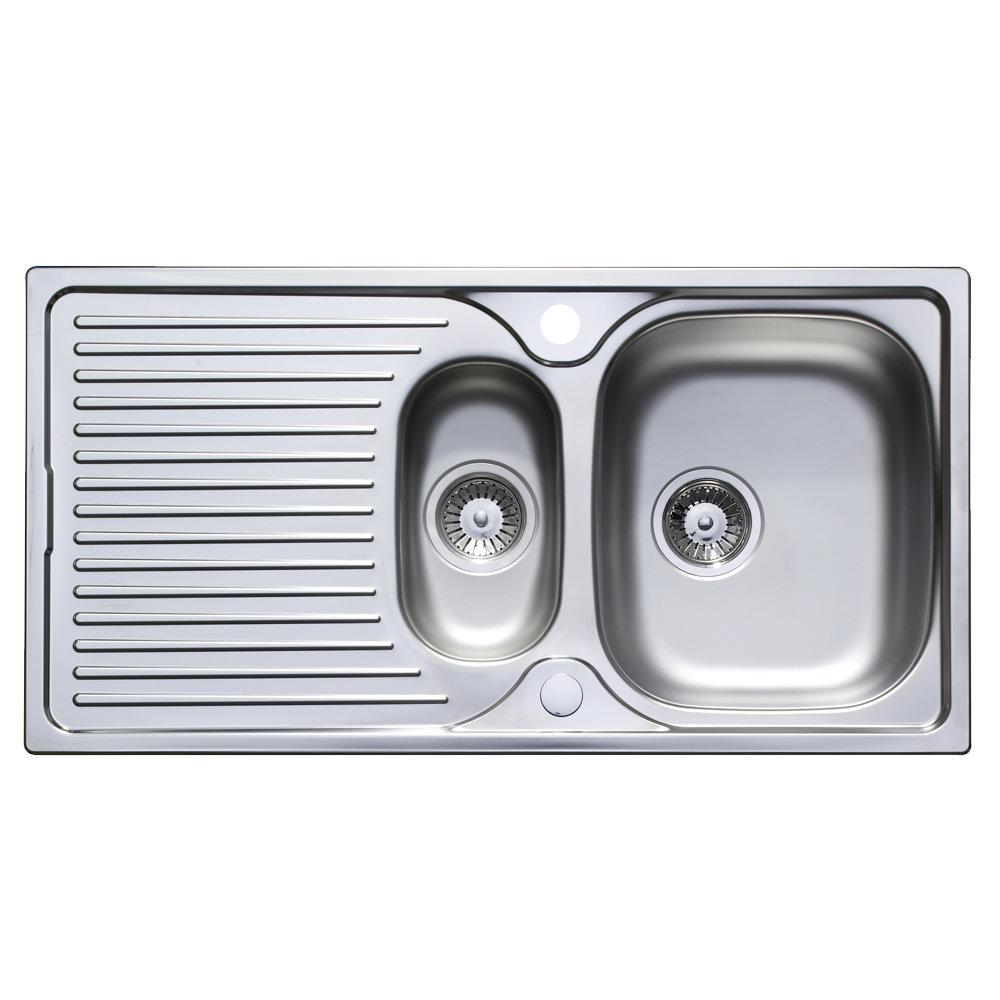 Astracast horizon 1 5 bowl w waste stainless steel sinks