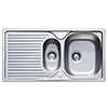 Astracast 965 x 500 Horizon Stainless Steel 1.5 Bowl Kitchen Sink (with Waste) profile small image view 1