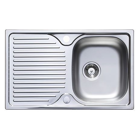 Astracast 800 x 500 Compact Horizon Stainless Steel 1.0 Bowl Kitchen Sink (with Waste)