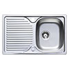 Astracast 800 x 500 Compact Horizon Stainless Steel 1.0 Bowl Kitchen Sink (with Waste) profile small image view 1