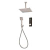 Triton HOME Digital Mixer Shower Pumped All-in-One with Square Fixed Head & Outlet Elbow Handset Holder (Low Pressure Gravity) profile small image view 1