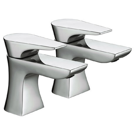 Bristan - Hourglass Contemporary Bath Taps - Chrome - HOU-3/4-C