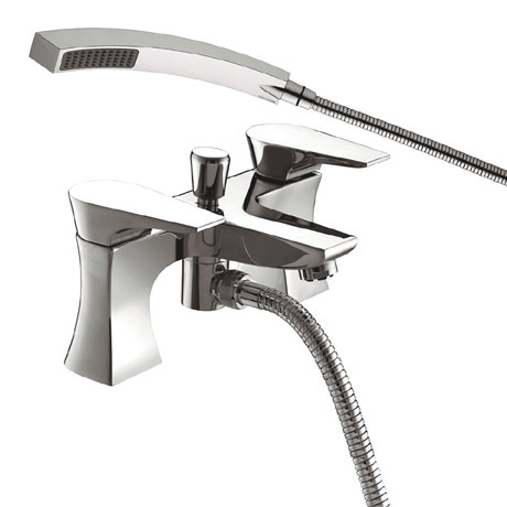 Bristan - Hourglass Contemporary Bath Shower Mixer - Chrome - HOU-BSM-C
