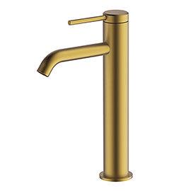 Britton Hoxton Tall Basin Mixer - Brushed Brass