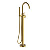 Britton Hoxton Floor Standing Bath Shower Mixer - Brushed Brass profile small image view 1