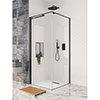 Crosswater Design+ Matt Black Pivot Door Shower Enclosure with Hush Technology profile small image view 1