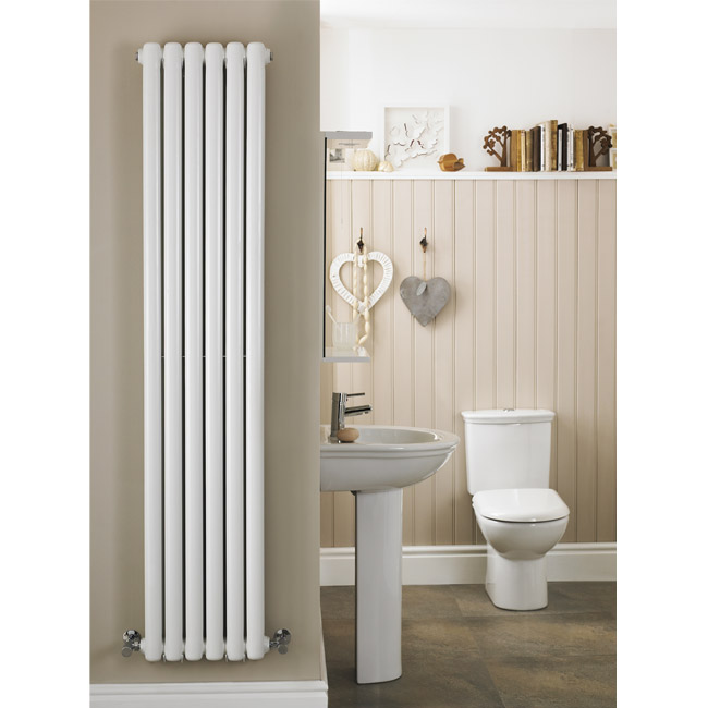 Premier - Peony Double Panel Radiator - 1800 x 383mm - White - HPE001 Feature Large Image