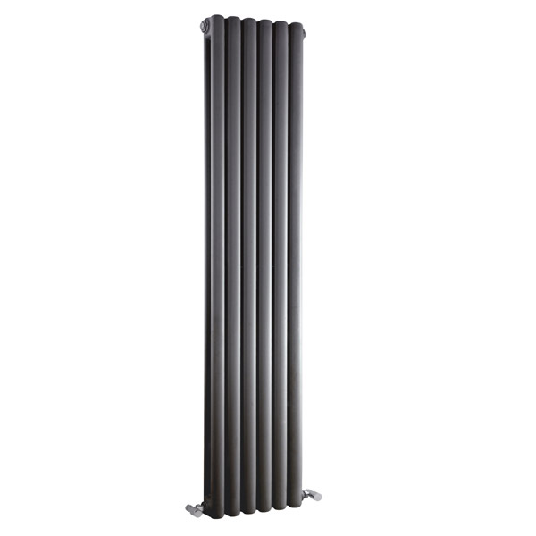 Premier - Peony Double Panel Radiator - 1500 x 383mm - Anthracite - HPE006 Large Image