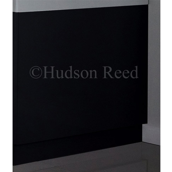 Hudson Reed High Gloss Black End Bath Panel - Various Size Options profile large image view 2