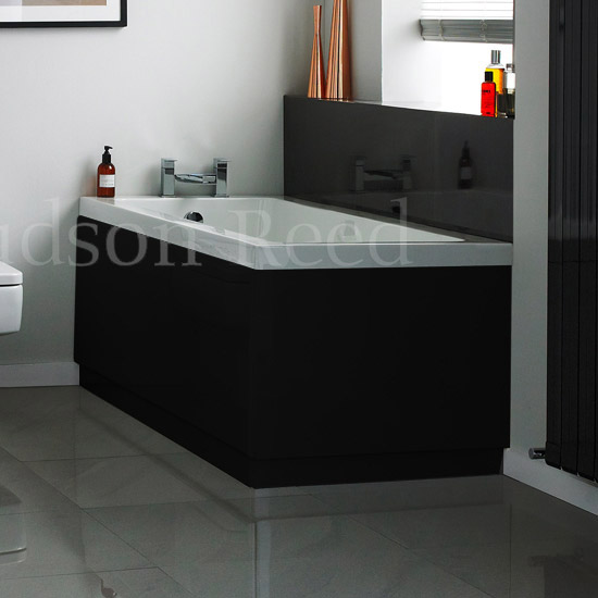Hudson Reed High Gloss Black End Bath Panel At Victorian