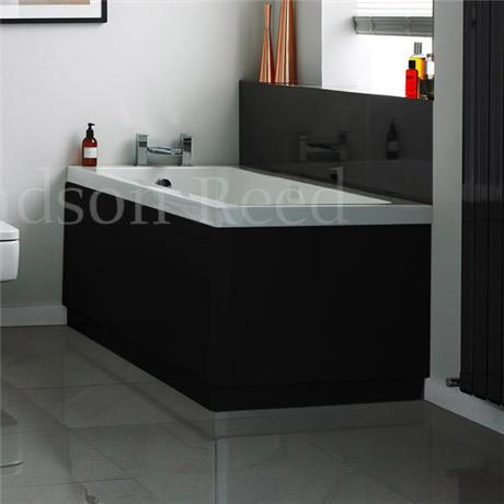Hudson Reed High Gloss Black End Bath Panel - 3 Size Options