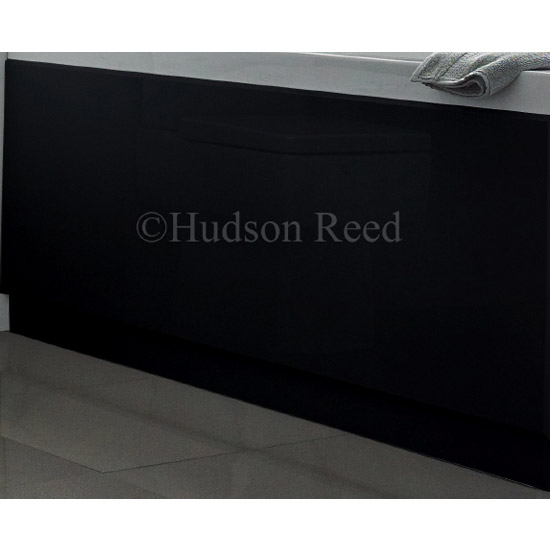 Hudson Reed High Gloss Black Front Bath Panel profile large image view 2