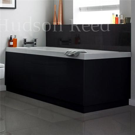 Hudson Reed High Gloss Black Front Bath Panel
