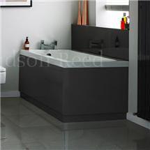 Hudson Reed High Gloss Grey End Bath Panel Medium Image