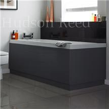 Hudson Reed High Gloss Grey Front Bath Panel Medium Image