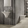 Hudson Reed Grace 1TH Wall Hung Suite (Rimless Toilet, Concealed Cistern + Basin) profile small image view 1