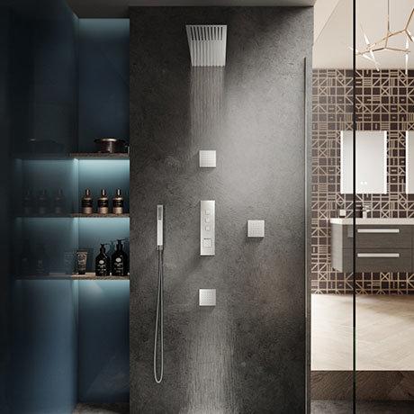 Hudson Reed Ignite Square Slimline Shower Package (3 Outlets)