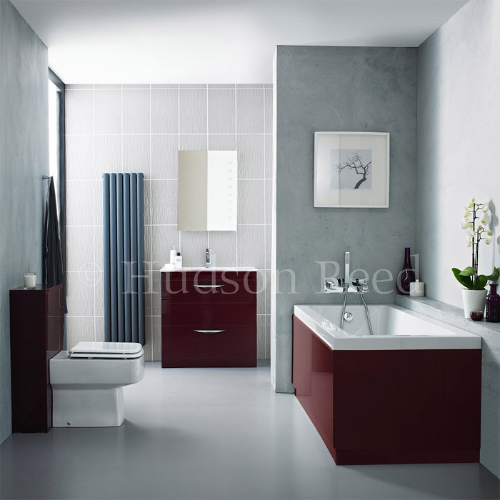 Hudson Reed Memoir Burgundy Bathroom Suite At Victorian Plumbing Uk
