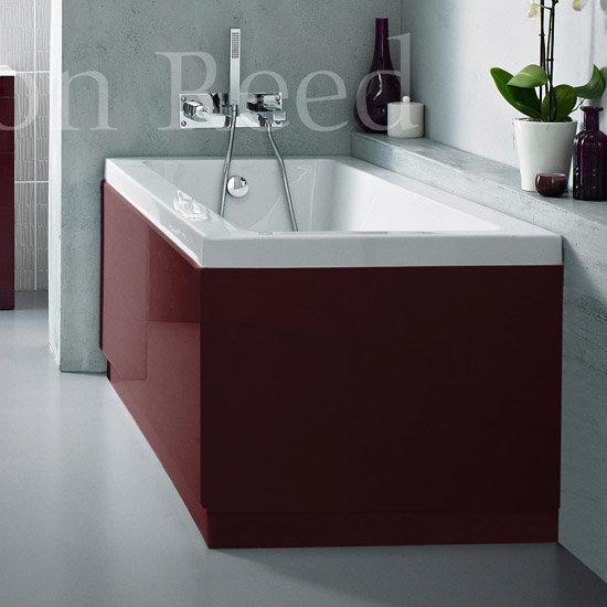 Burgundy Acrylic High Gloss: Hudson Reed High Gloss Burgundy Front Bath Panel