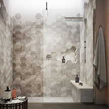 Hudson Reed 1950mm Wet Room Screen - Various Sizes Medium Image