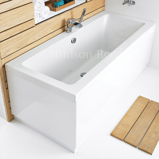 Hudson Reed High Gloss White End Bath Panel - Various Size Options profile large image view 1