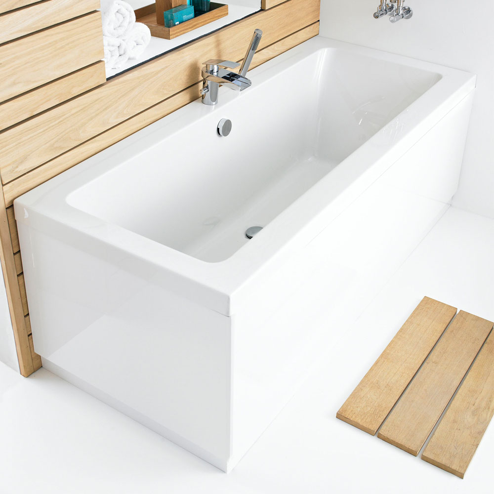 Hudson Reed High Gloss White MDF End Bath Panel - Various Size Options