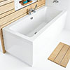 Hudson Reed High Gloss White MDF End Bath Panel - Various Size Options profile small image view 1