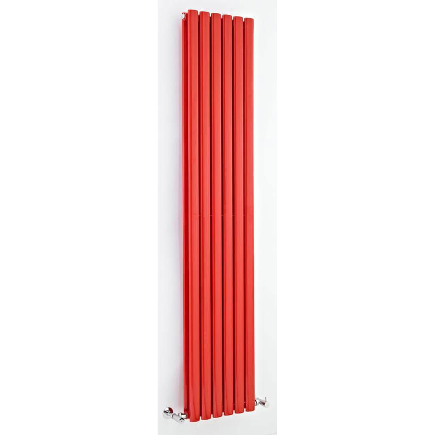 Hudson Reed - Revive Double Panel Designer Radiator 1800 x 354mm - Red - HRE003 profile large image view 1