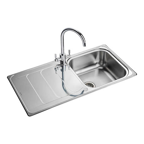 Rangemaster Houston 1.0 Bowl Stainless Steel Kitchen Sink