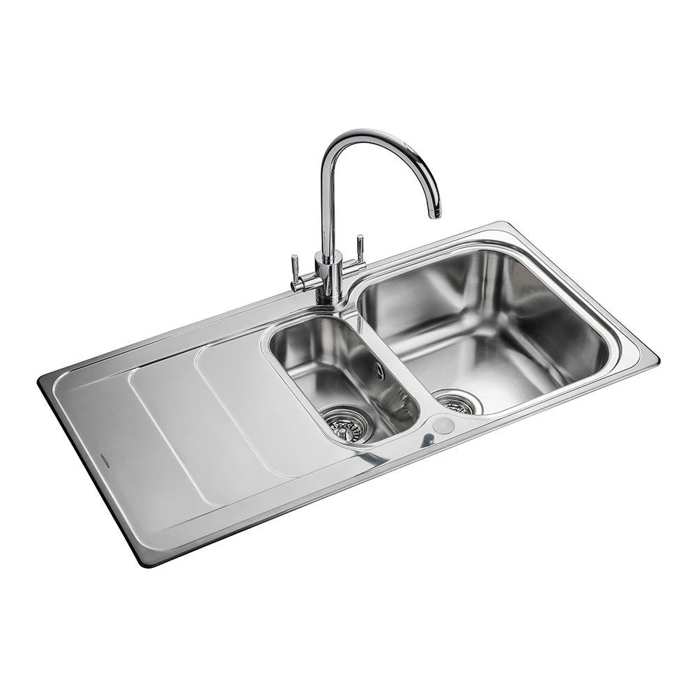Rangemaster Houston 1.5 Bowl Stainless Steel Kitchen Sink