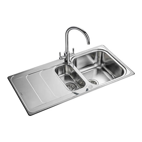 Rangemaster Houston 1.5 Bowl Stainless Steel Kitchen Sink