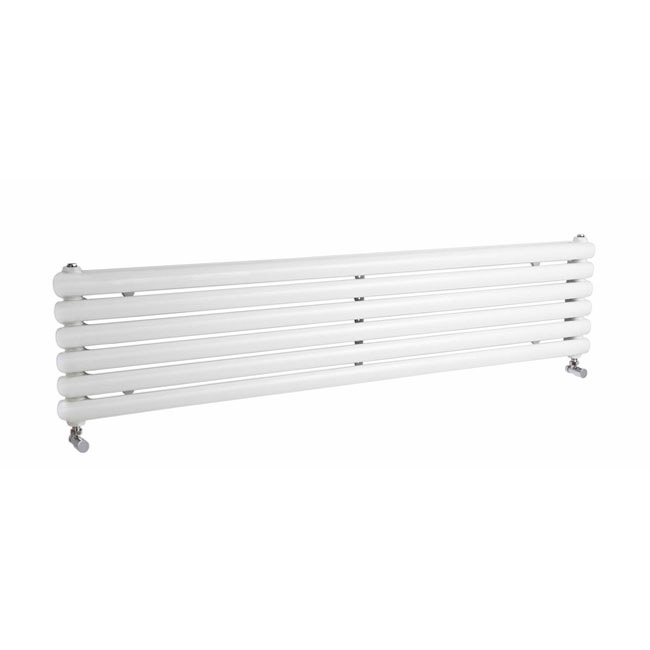 Premier - Salvia Horizontal Double Panel Radiator - 383 x 1500mm - White profile large image view 1