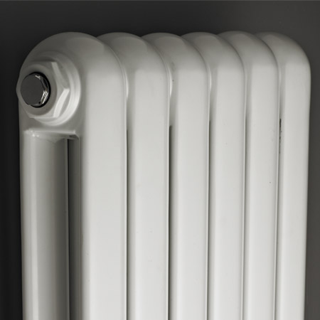 Premier - Salvia Double Panel Radiator - 1500 x 383mm - White - HSA002 profile large image view 2