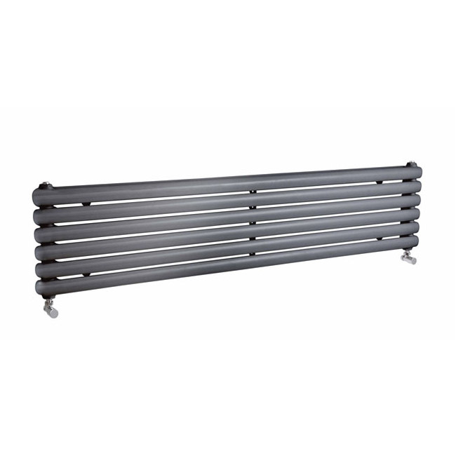 Premier - Salvia Horizontal Double Panel Radiator - 383 x 1800mm - Anthracite Large Image