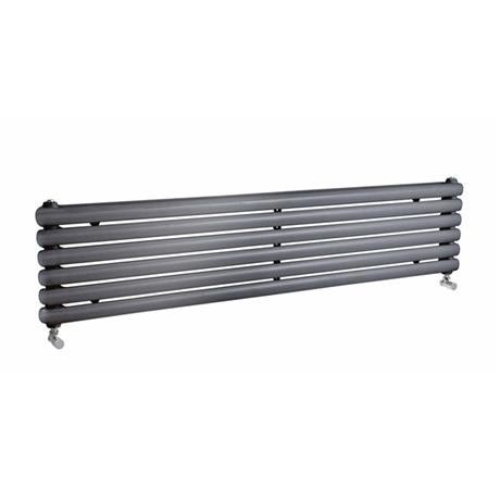Premier - Salvia Horizontal Double Panel Radiator - 383 x 1800mm - Anthracite