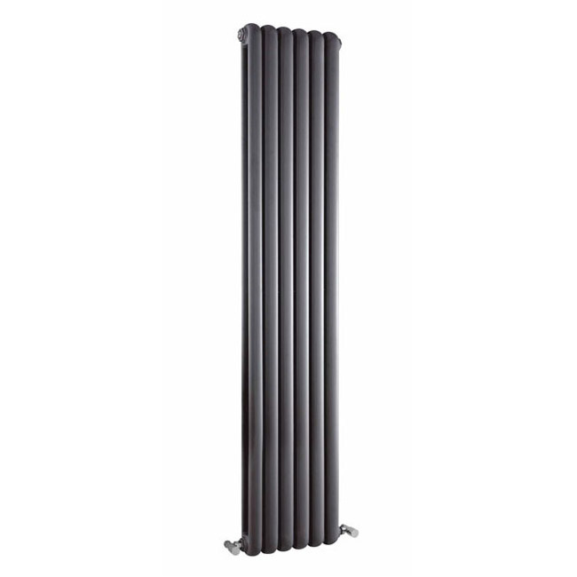 Premier - Salvia Double Panel Radiator - 1800 x 383mm - Anthracite - HSA005 Large Image