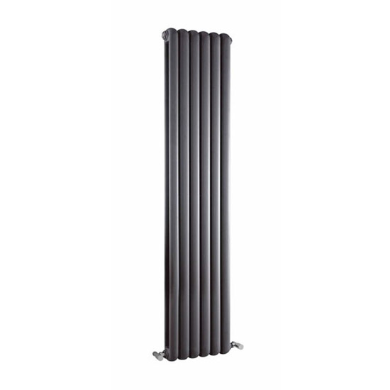 Premier - Salvia Double Panel Radiator - 1500 x 383mm - Anthracite - HSA006