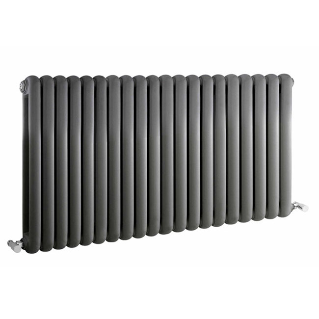 Premier - Salvia Double Panel Radiator - 635 x 1223mm - Anthracite - HSA007 Large Image