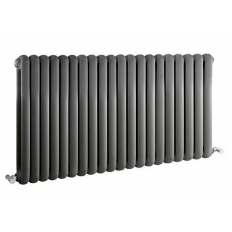 Premier - Salvia Double Panel Radiator - 635 x 1223mm - Anthracite - HSA007