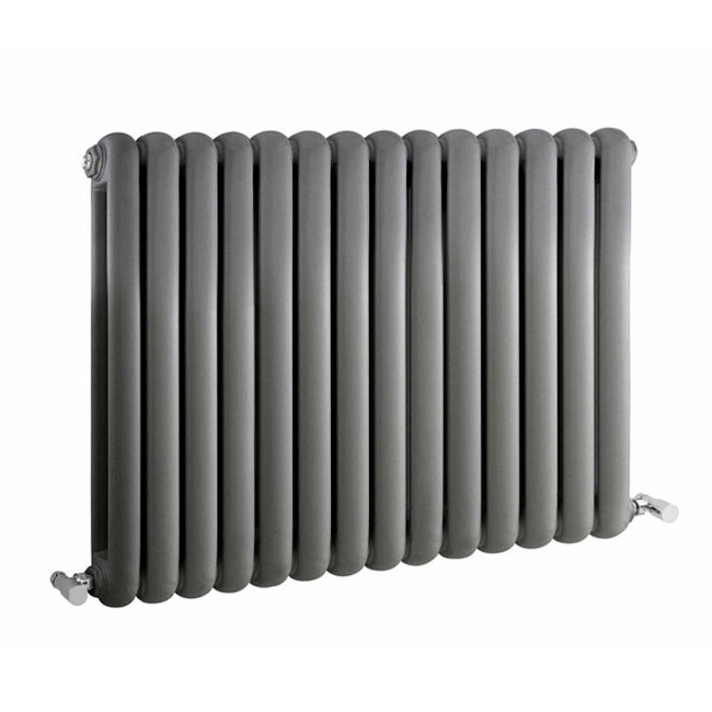 Premier - Salvia Double Panel Radiator - 635 x 863mm - Anthracite - HSA008 Large Image