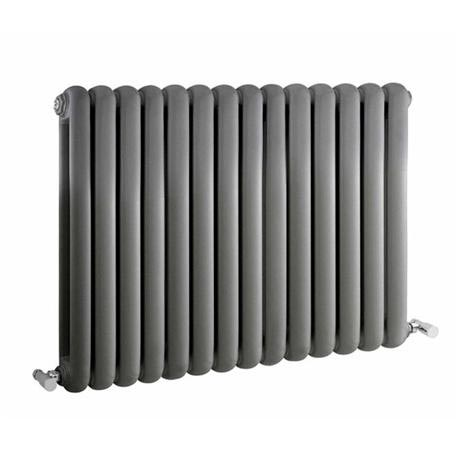 Premier - Salvia Double Panel Radiator - 635 x 863mm - Anthracite - HSA008
