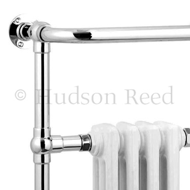 Hudson Reed Traditional Earl Heated Towel Rail - Chrome - HT306 profile large image view 2